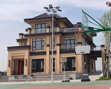 AT1778新亚洲风格三层别墅现场施工案例图欣赏