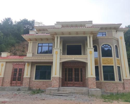湘潭汤先生欧式外观高端大气做工精细三层别墅施工案例示意图
