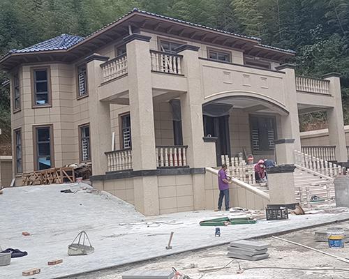 岳阳平江县王先生占地150平二层欧式豪华别墅施工案例图欣赏