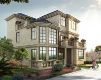 永云别墅AT069法式式风格三层带露台豪华别墅设计全套图纸11m×13.8m