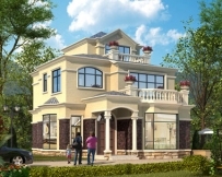 永云别墅AT1622三层简欧带露台小别墅全套施工图纸9.7mx11.7m