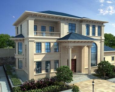 永云别墅AT1710三层豪宅复式楼别墅及园林全套设计图纸18.5mx13.7m
