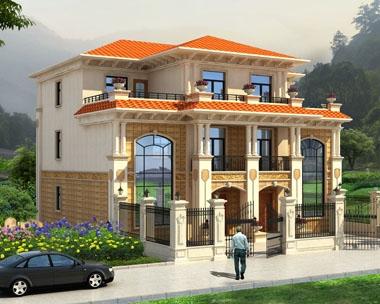 永云别墅AT1721三层豪华双拼复式别墅设计图纸16mx14.2m