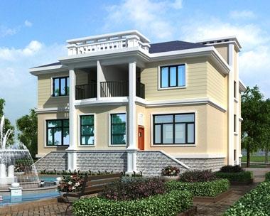 永云别墅AT1708二层双拼带车库实用别墅设计施工图纸14.9mx16.5m