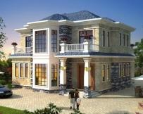 【带装修图纸】AT1737二层简欧私家别墅设计全套施工图纸13mx14m