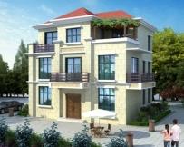 AT1746现代简约占地110平米三层漂亮小别墅施工图纸11.3mx9m
