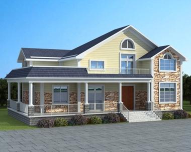 AT1761一层半带走廊复式客厅小别墅全套施工图纸17.5mX11m