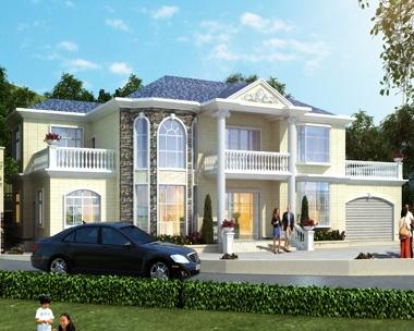 AT1828二层复式别墅设计带双车库全套施工图纸及效果图27mX14m