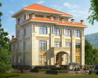私人定制欧式AT1825沉稳大气四层复式别墅设计施工图纸15.6mX17m