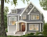 AT1859美式风格二层复式带阁楼别墅设计施工图纸11.6mX13m
