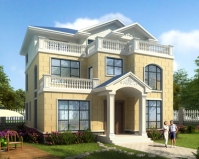 AT1862新农村自建房屋设计简约三层别墅全套施工图纸11.5mX13m