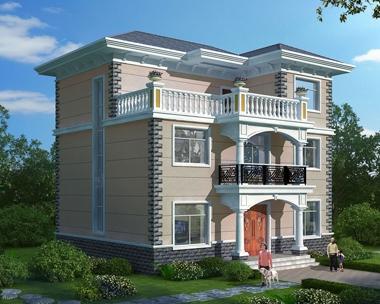 AT1832新农村自建房三层简约大方别墅全套施工图纸11.2mX11m