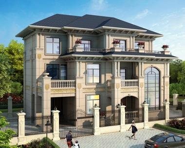 AT1873三层带地下室复式客厅石材别墅设计全套施工图纸17mX11.7m