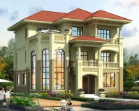 2020新款AT1905豪华大气三层复式楼别墅设计施工图纸12mX12.3m