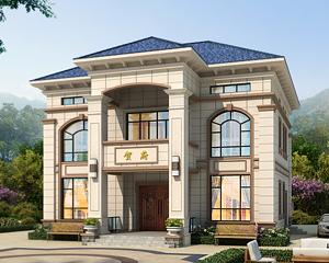 AT1921二层简欧风格带阁楼层别墅设计全套施工图纸12.5mX12.2m