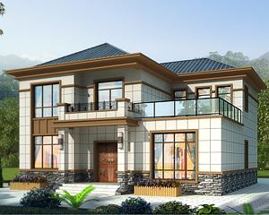 AT1929二层简约大方现代新中式风格别墅设计施工图纸13mX12m
