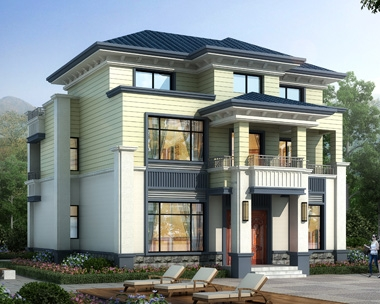 清新优雅AT1931海派风格二层半私家别墅设计全套图纸12mX11m