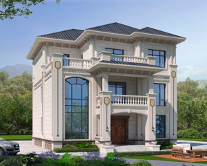 2021新款AT1940独立套房式三层简欧别墅设计建筑施工图纸12.2mX15.8m