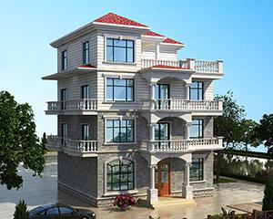 永云别墅AT1681简洁大方欧式四层别墅建筑设计图纸10.5mx12.3m