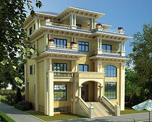 永云别墅AT1680复式四层豪华私人别墅设计图纸13mx12.7m