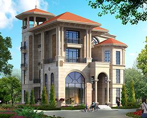 AT1711高端大气带电梯欧式四层复式楼别墅设计图纸13.9mx16.7m