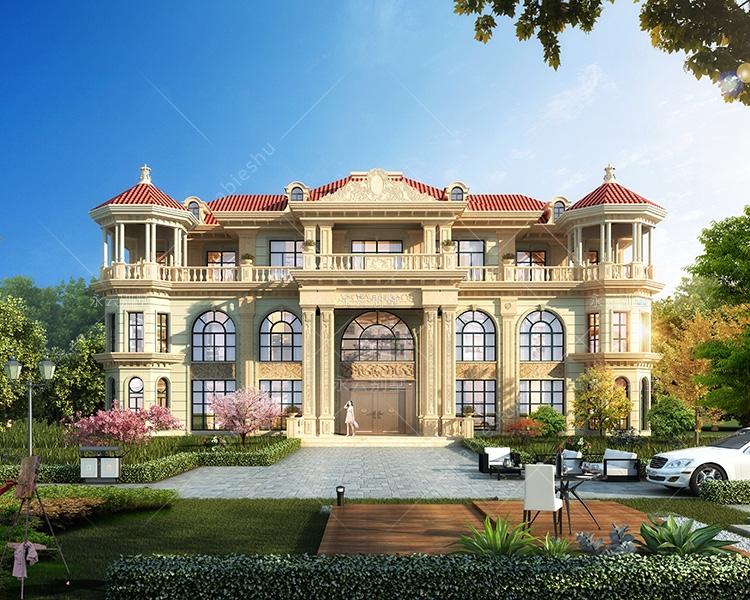 双峰胡家兄弟双拼高端气派欧式豪宅定制设计案例