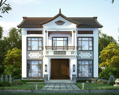【永云出品】清雅贤居1#款/新中式带阁楼传承经典别墅设计全套图纸12mX9.8m