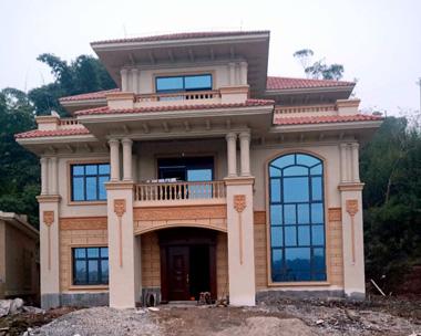 成都罗先生AT1700三层豪华高端别墅施工实建案例图欣赏