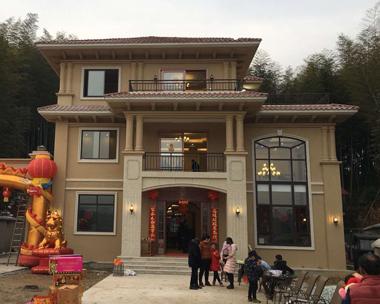 长沙方总AT1700修改版三层高档复式别墅施工实景照片欣赏