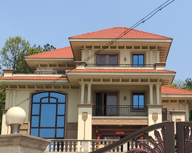 AT1668三层高端豪华复式别墅工程施工案例图欣赏