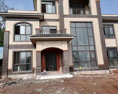 AT1867新中式风格三层简单大方复式楼别墅施工案例图欣赏