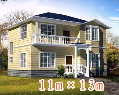 882二层新农村实用小别墅施工图11m×13m
