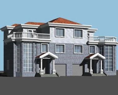 670三层连排经典别墅设计图纸22m×13m