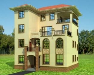[永云别墅] AT402四层大气别墅建筑结构水电图纸11m×12m