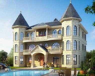 永云别墅AT206三层欧式双拼别墅全套设计图纸20mx14.7m