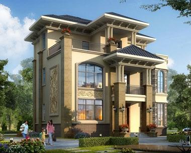 永云别墅AT1733新农村私人三层带地下室别墅设计图纸12mx11.8m