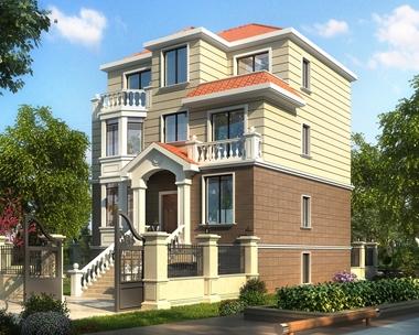 占地110平米AT1755三层简洁带架空层车库别墅设计图纸10mX11.3m