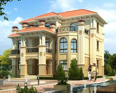 AT1817三层带屋顶花园复式常德私人豪华别墅设计图纸14.2mX12.7m