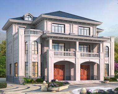 AT1928三层经典大方兄弟双拼别墅设计全套施工图纸18mX13m