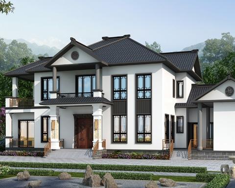 2021新款AT1948带内院/柴火房经典新中式二层自建别墅全套图纸27mX12.7m
